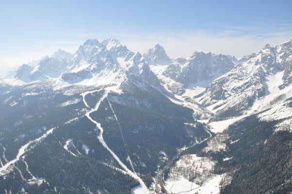 Skigebiet Rotwand Sexten im Pustertal am, 12.04.2009