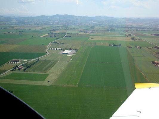 Zwischensopp auf einen Flugplatz