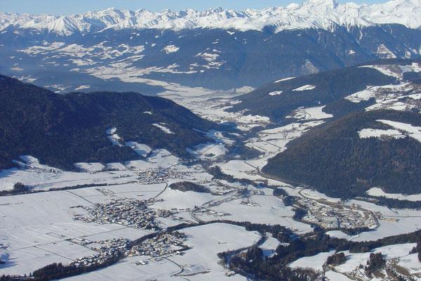 Olang Richtung Bruneck im Pustertal