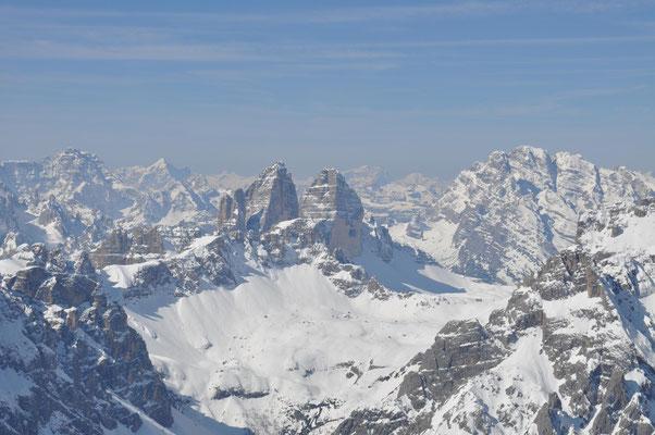 Die drei Zinnen Dolomiten, Vormittag 25. April 2009