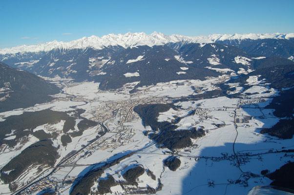 Stefansdorf, Reischach, St.Lorenzen, St.Georgen, Gais, Dietenheim, Bruneck und Percha  31.12.2008