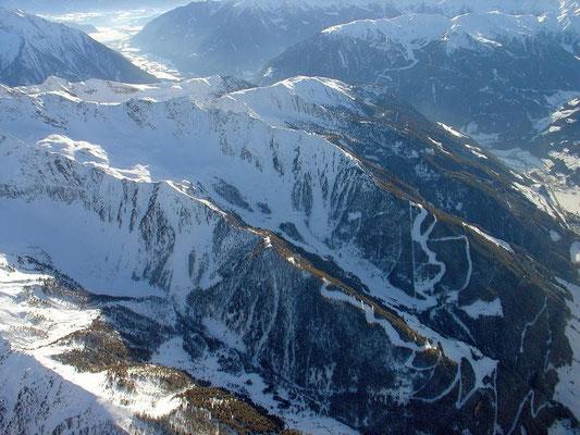 Skigebiet Klausberg, im Hintergrund Speickboden