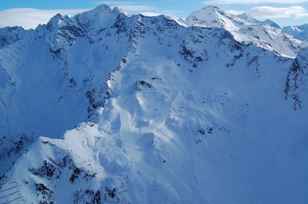 Skigebiet Klausberg im Ahrntal am 4. Jänner 2009