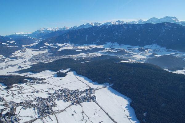 Winter in Pfalzen,  Bruneck, Reischach und Kronplatz