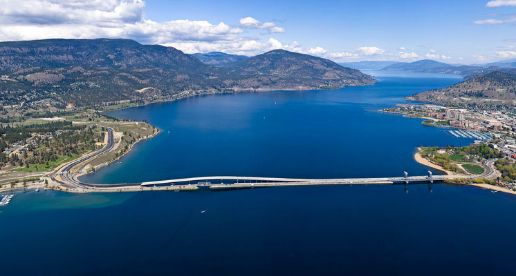 Okanagan Lake and bridge