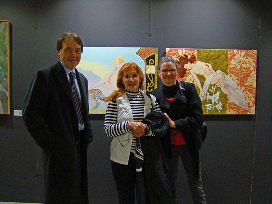 Mit meinen charmanten, französischen Kunstfreundinnen