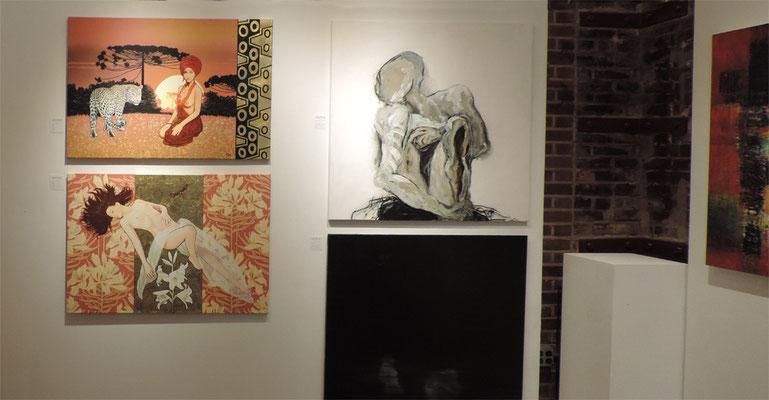 Zwei von meinen ausgestellten Bilder