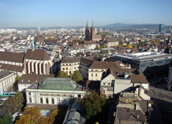 Aussicht auf Basel vom Kirchenturm