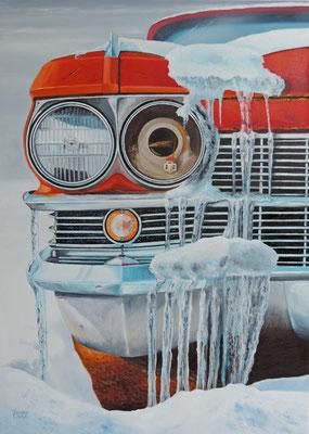 """Zeitspuren 02 """"Cadillac DeVill"""" Ölbild 70x50cm"""