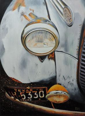 """Zeitspuren 01 """"Ford"""" Ölbild 70x50"""