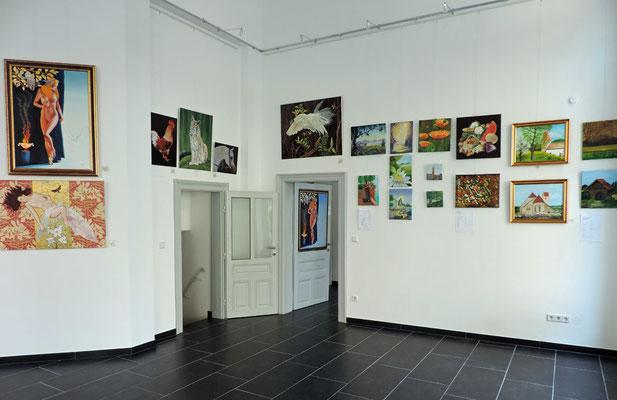 """Die Bilder der Malgruppe """"Rondell"""" in der Galerie Sandpeck"""