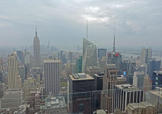 Blick auf Manhattan vom Turm des Rockefeller Center