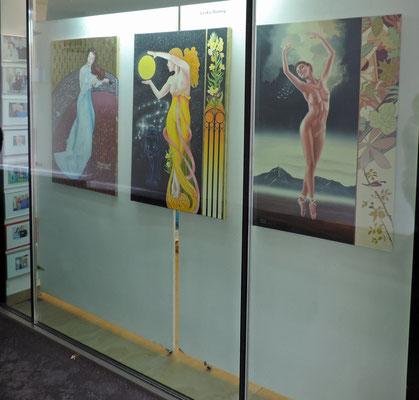 Die Schaufenstern der Galerie Kitz Art