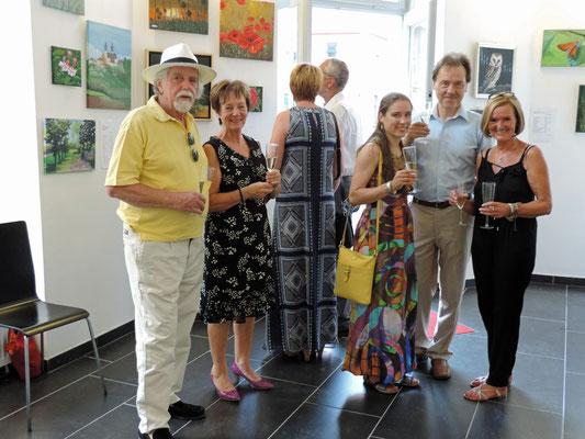 von rechts: Maria Kargl, Danny Liska, Nicole Liska, Hermine Gillinger und Helmut Amon