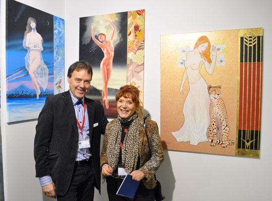 Mit der Französischen Malerin Pari Ravan
