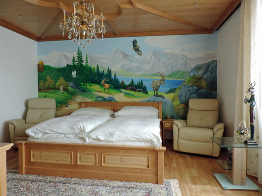 Wandmalerei im Tiroler Zimmer