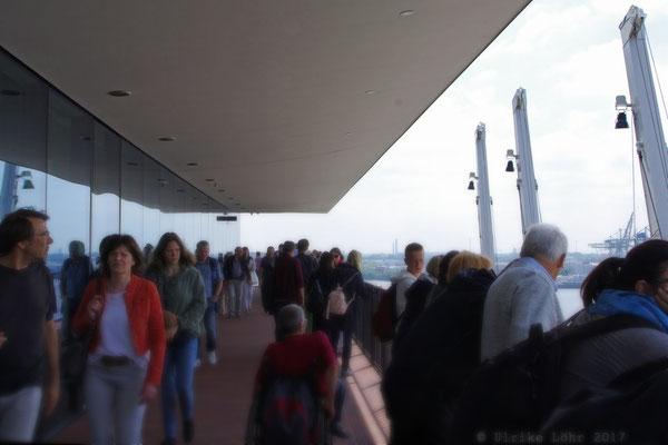 Umgang der Plaza der Elbphilharmonie
