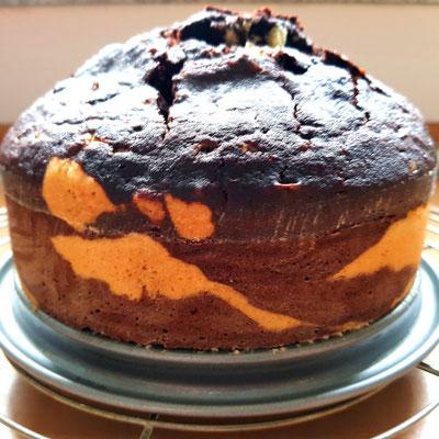 Zebrakuchen nach dem Rezept für  Gewürzkuchen-Marmorkuchen von Zucker, Zimt und Liebe