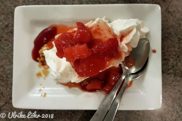 Turning Point Restaurant in Golden:  Housemade Strawberry Cheesecake