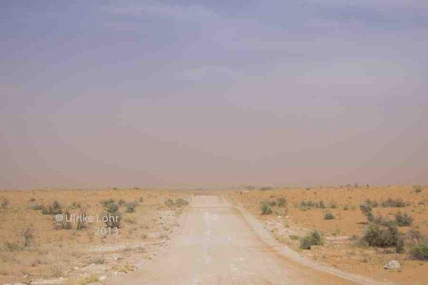 Sandsturm auf der North Dune Road