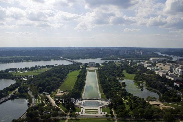 Blick nach Süden vom Washington Monument