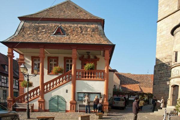 Rathaus und Kirche in Freinsheim