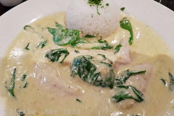 Chicken mit Spinat und Reis