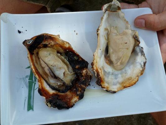 Gegrillte Austern auf Miyajima