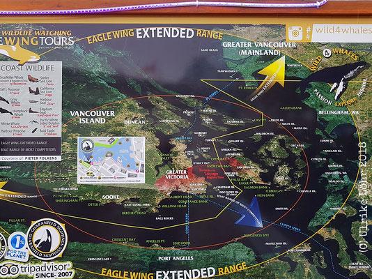 Eagle Wing Tours: das Gebiet, in welchem die Tour stattfindet
