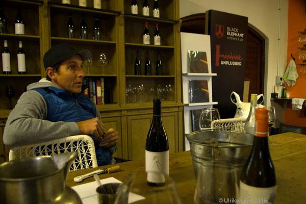 Jacques Wentzel plaudert über Weine, über Franschhoek, über das Leben...