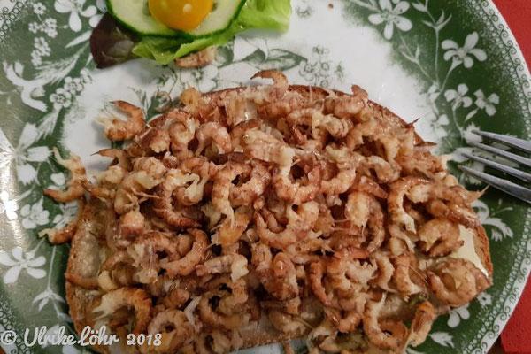 Krabben auf dem Brot
