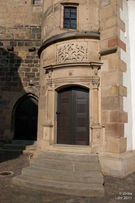 Tür zum Kirchturm in Freinsheim