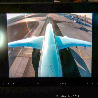die In-Flight-Kamera des Qatar Airways A350-900