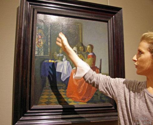 Erläuterung von Sarah Babin zu Das Mädchen mit dem Weinglas, Johannes Vermeer van Delft