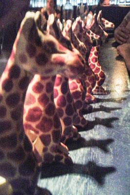 Giraffen als Tischdeko