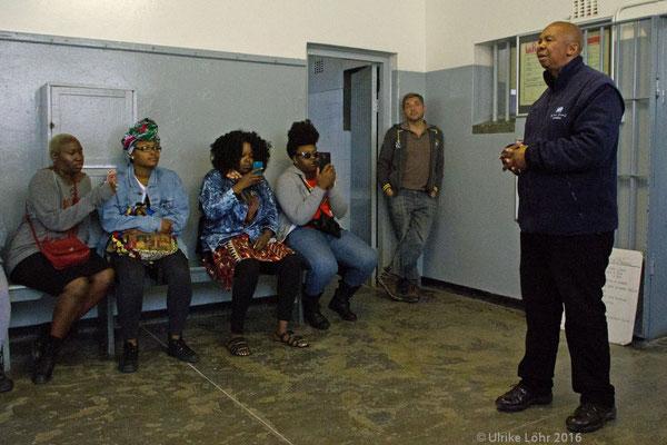 Zelle im Gefängnis auf Robben Island
