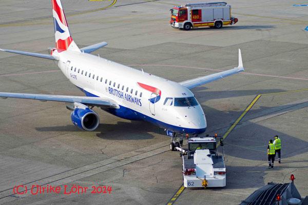 G-LCYE BA CityFlyer Embraer ERJ-170STD (ERJ-170-100) beim push back