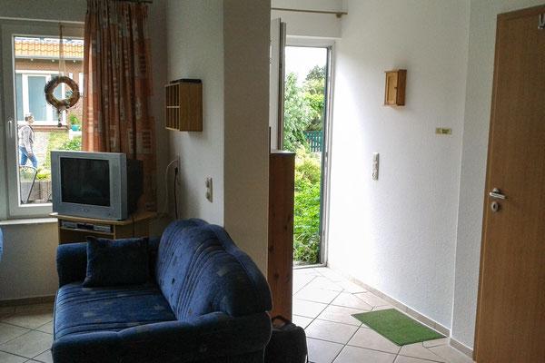 Wohnbereich und Eingang