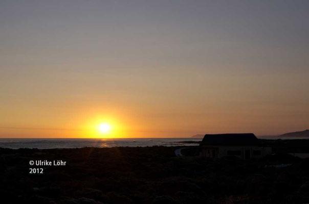 Sonnenuntergang in Agulhas