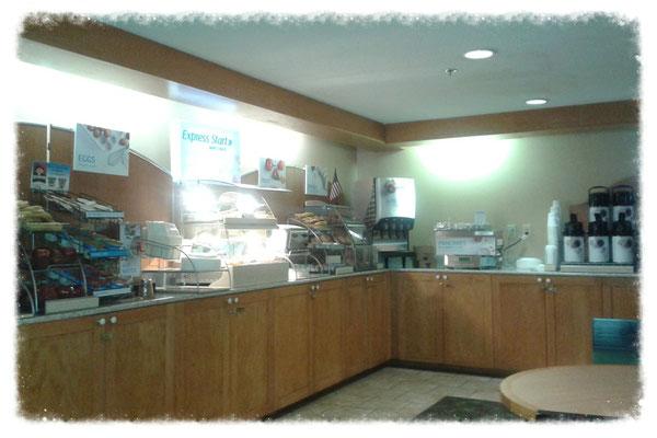 """Frühstücks""""buffet"""" im Holiday Inn Express"""