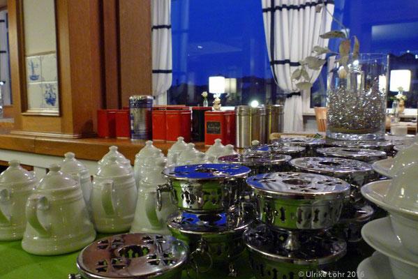Teeauswahl im Hotel Strandeck auf Langeoog