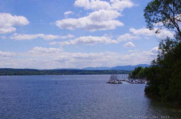 Blick auf den Starnberger See vom Buchheim-Museum