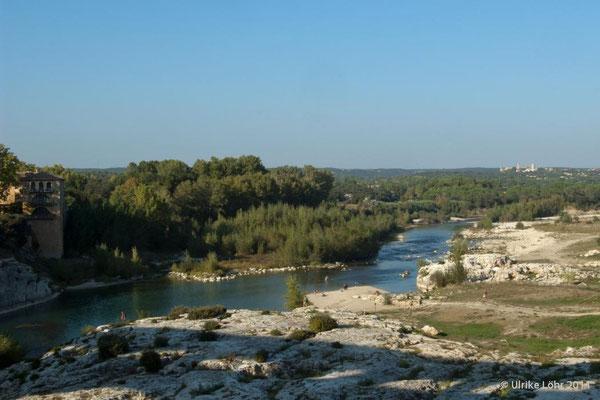 Pont du Gard - Blick auf den Fluss