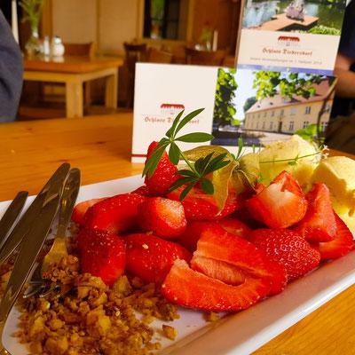 Erdbeeren mit Vanilleeis