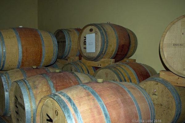 Wein in Eichenfässern