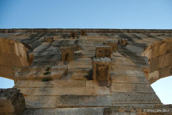Pont du Gard - Blick nach oben