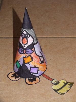 sorcière d'Halloween, fabrication façon chapeau de fée
