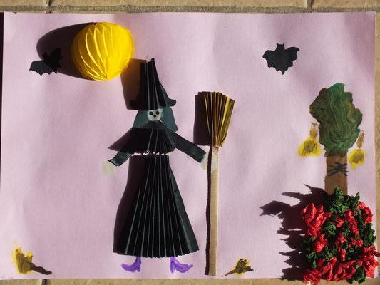 dessin d'Halloween en relief
