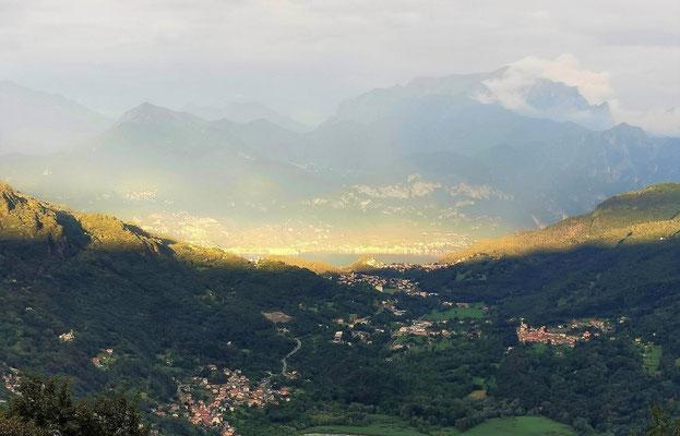 Reinhard Riedel - Sonne über dem Comer See