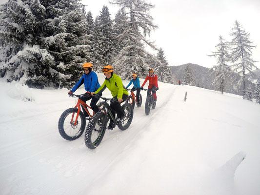 Alpine Fatbike winter ride